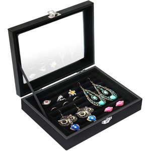VALDLER Jewelry Case Tray WITH LID Black NEW